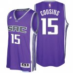 Chic Sacramento Kings #15 DeMarcus Cousins 2016 17 Seasons City Merchandise Road Swingman LZW3530