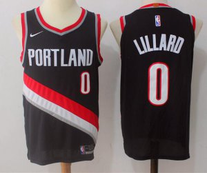 Exactly Fit Men's Portland Jerseys Trail Blazers #0 Damian Lillard Black 2017 Nike Swingman Stitched ZQC3456