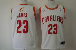 Fine fabric Gear Lebron James Cleveland Cavaliers white 23 UYM1195