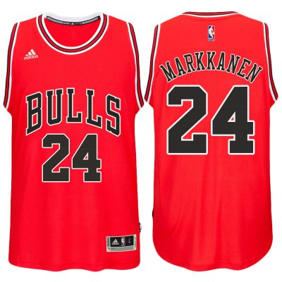 Free delivery Chicago Bulls #24 Lauri Markkanen 2017 18 NBA Road Red Swingman ZGH662