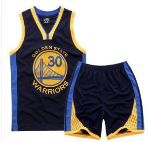 Latest style #30 Curry Jerseys Warriors Kids Sets black NBV4441