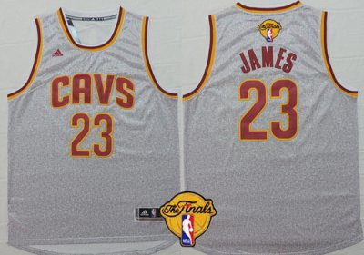 Latest style Jerseys Cleveland Cavaliers #23 LeBron James 2016 The Finals Patch Gray RXO276