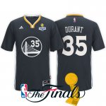 New Cheap 2017 Finals Champions Patch Golden State Warriors #35 Kevin Clothing Durant Black Sleeved Swingman DDD1582