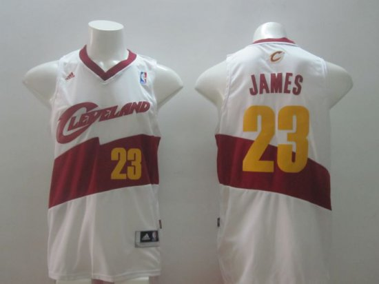 new arrivals ec05c 7faac New Cheap Cleveland NBA Cavaliers 23 LeBron James White ...