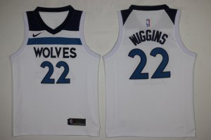 New Style Men's Minnesota Timberwolves #22 Andrew Wiggins White 2017 Nike Swingman Stitched Jersey PEK2857