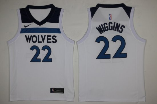 8019853e6aa New Style Men s Minnesota Timberwolves  22 Andrew Wiggins White 2017 Nike Swingman  Stitched Jersey PEK2857