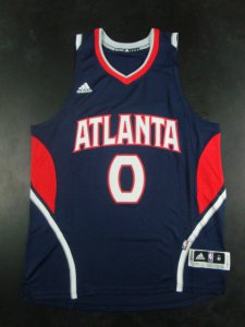 Novelty Atlanta Hawks 0 Jeff Teague NBA Revolution 30 Road Blue SVI388