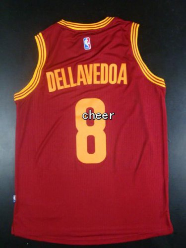 Novelty Cleveland Cavaliers #8 Apparel Dellavedoa red AVN1094