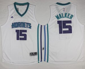 Official Revolution 30 Hornets #15 Kemba Apparel Walker White Stitched PEC647