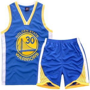 Online Cheap 2018 #30 Clothing Curry Warriors Kids Sets blue EMH4442