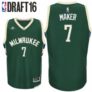 Originals 2016 Draft Jerseys Milwaukee Bucks #7 Thon Maker Road Green Swingman ILB2806