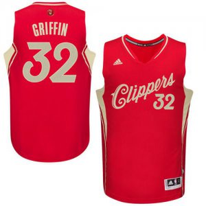 Originals Clippers #32 Gear Blake Griffin Red 2015 2016 Christmas Day Stitched ZSM989