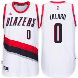 Originals Portland Trail Jerseys Blazers #0 Damian Lillard 2016 17 Home White Swingman YXZ3467