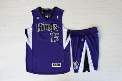 Promotional sale Sacramento Basketball Kings #15 DeMarcus Cousins Purple Suits UMY4532