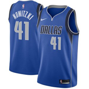 Sale Online Dallas Mavericks #41 Dirk Nowitzki Blue Mens Nike Clothing Swingman KYW1261