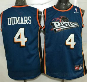 Shop Cheap Pistons #4 Joe Apparel Dumars Blue Throwback Stitched RGR1415
