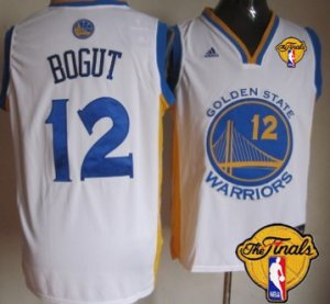 Shop Discount Golden State Warriors #12 Andrew Bogut White 2016 The Finals Apparel Patch OTZ12