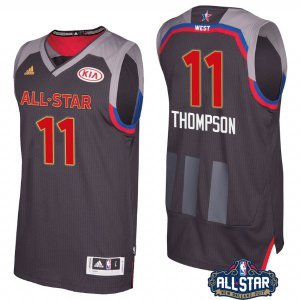 Shopping Golden State Warriors# 11 Klay Basketball Thompson 2017 Orleans All Star Charcoal EMV306