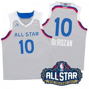 The Latest 2017 Orleans All Apparel Star Eastern Conference Raptors #10 DeMar DeRozan Gray GTW337