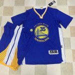 The Latest Warriors #35 Kevin Durant Blue A Jersey Set Stitched JFV4252