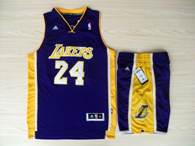 Top Quality Revolution 30 Los Angeles Lakers #24 NBA Kobe Bryant Swingman Purple Road Rev Basketball Suits LCK4528