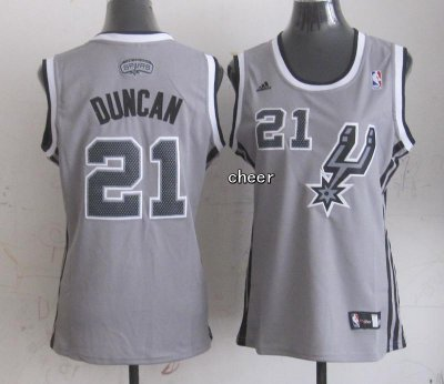 Wholesale Women San Antonio Spurs #21 Jersey Duncan grey WUA4326