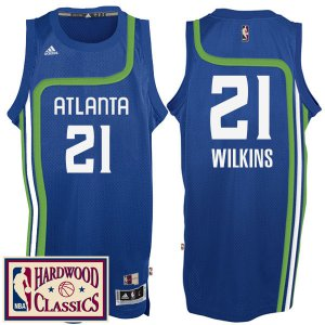 internet sale Atlanta Hawks #21 Dominique Wilkins 2016 17 Jersey Season Royal Hardwood Classics Throwback Swingman QGQ356