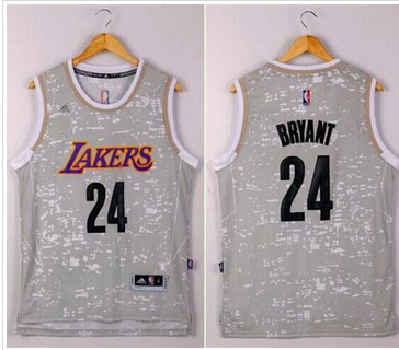 100% Hight Quality NBA Los Angeles Lakers #24 Kobe Bryant Grey City Light Stitched NZD2399