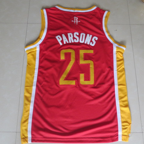cc8df1f04bc3 100% Hight Quality Parsons Houston Rockets Retro 25 Red Gear FUP1938 ...