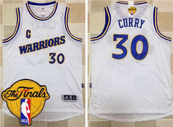 2018 Cheap Warriors #30 Stephen Curry White Apparel Throwback The Finals Patch Stitched TRO1855