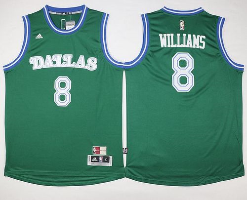 2018 Online Cheap Dallas Mavericks #8 Deron Williams Green Hardwood Classics Performance Stitched Clothing GZG1277