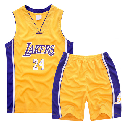65% Discount Clothing #24 Kobe bryant Lakers Kids Sets yellow LJR4440