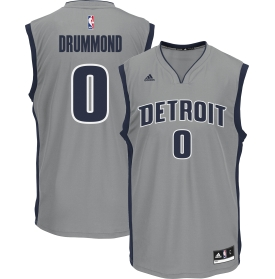 Attractive Men's Detroit Merchandise Pistons Andre Drummond #0 Alternate Grey Replica WCY1402