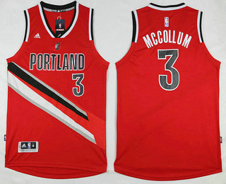 Best Gift Portland Trail Blazers #3 C.J. McCollum Revolution 30 Swingman NBA 2016 Red RCP3487