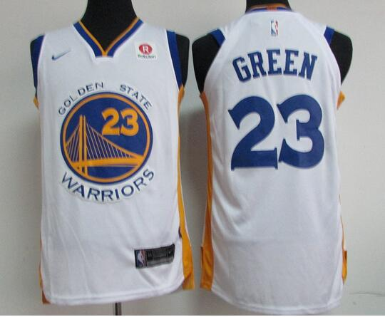 on sale 51ac0 6170a Big Discount Men's Golden State Warriors #23 Green White ...