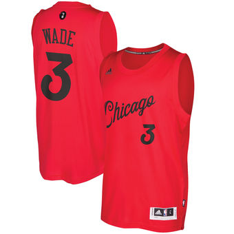 Buy Online Cheap Chicago Bulls #3 Jersey Dwyane Wade Red 2016 Christmas Day Swingman NAT948