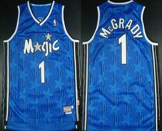Cheap Buy Online Orlando Magic #1 Tracy McGrady Jerseys Blue All Star Hardwood Classics Soul Swingman Throwback ICO3153