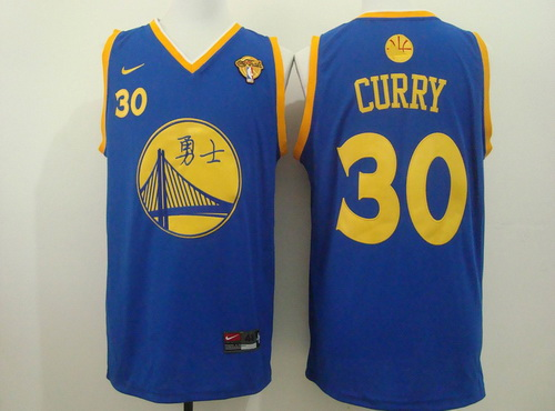 94443fab2 Cheap New Style Golden State Warriors  30 Stephen Curry Chinese Blue  Clothing OUE1661