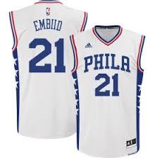 Cheap New Style Philadelphia 76ers 21 Joel Embiid Basketball White Heat Apparel WYB3232