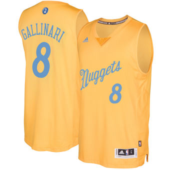 Cheap Online Sale Denver Nuggets #8 Danilo Gallinari Gold 2016 Christmas NBA Day Swingman OWB952