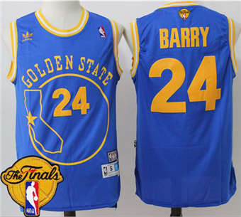 8d0515044 Cheap Warriors Jersey  24 Rick Barry Blue Throwback Golden State The Finals  Patch Stitched QTJ1840