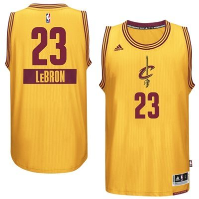 Cheap price LeBron Apparel James Cleveland Cavaliers Gold 2014 15 Christmas Day Swingman Alternate WHJ1139