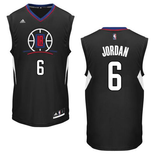 Chic Basketball Los Angeles Clippers #6 DeAndre Jordan Black Alternate Stitched LUB2276