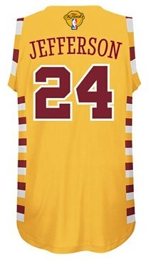 Classic version 2016 Cavaliers #24 Jefferson NBA Finals yellow RBD222