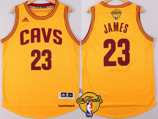 2a2876c8b Discount Cleveland Cavaliers  23 LeBron Gear James 2016 The Finals Patch  Yellow RWA282