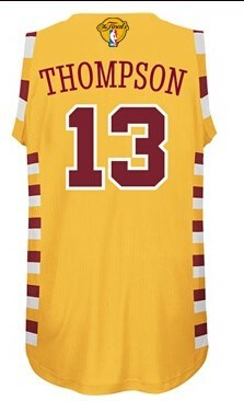 Fine fabric 2016 Cavaliers #13 Thompson Finals Gear yellow EWW218