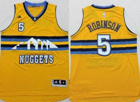 free shipping 51a94 01cd1 For Less Denver Nuggets 5 Nate Robinson 2015 NBA Yellow ...