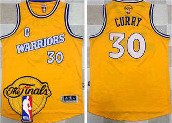 huge discount 1e65b 5bdc3 Genuine Warriors #30 Stephen Curry Gold Jersey Throwback The ...