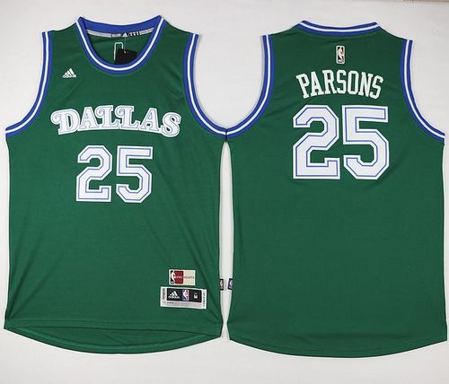 Hot Dallas Mavericks #25 Chandler Parsons Merchandise Green Hardwood Classics Performance Stitched VPP1276
