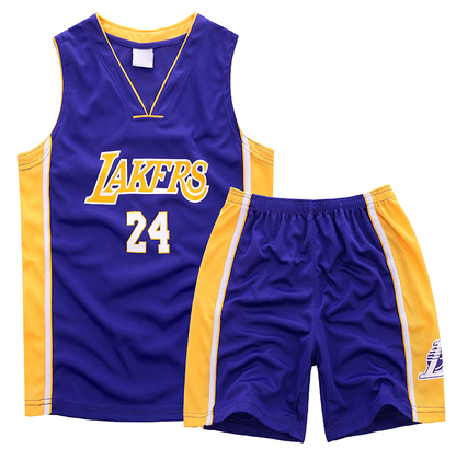 Hot Online #24 Jerseys Kobe bryant Lakers Kids Sets purple RDV4438